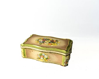 Vintage Floral Tin Made in Holland