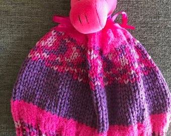Pink and Purple Winter Hat Children's