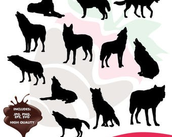 Wolves collection eps, jpg, png and svg files SC-098