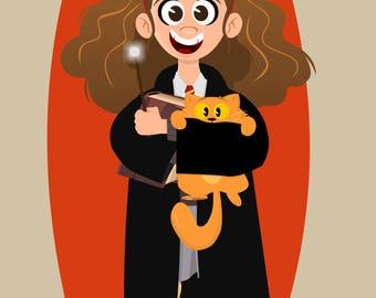 Hermione 11x14 Print