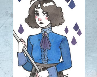 "Original illustration-""Inktober witch"""
