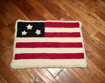 Three star flag Rug