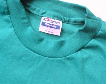 Vintage Hanes 50/50 T shirt - size XL - single stitch rare deadstock