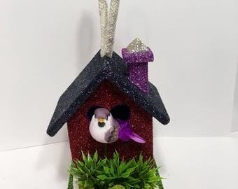 Sparkly Decorative Birdhouse