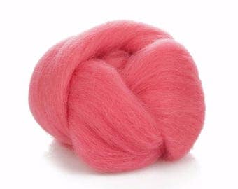 Pink Wool Roving - Needlq Felting - 24 Microns Merino Wool - Cherry Blossom Wool - Wool for Spinning - Soft Wool For Felting Accessories