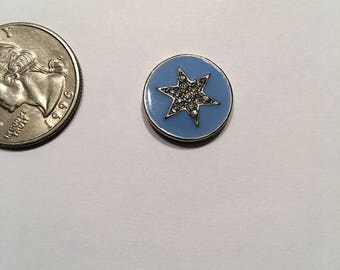 Blue & Rhinestone Star Needle Minder