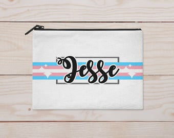 Personalized Transgender Zippered Pouch/Cosmetic Bag