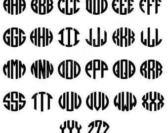 Monogram Font SVG FILE