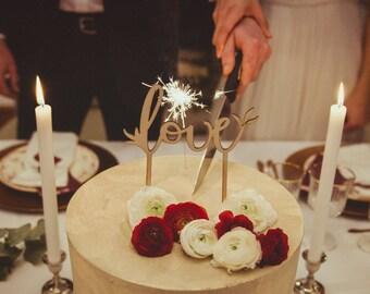 """Cake Topper wedding """"Love"""""""