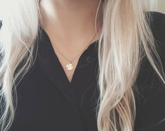 Rose Gold Clover Necklace | Dainty Clover Necklace | Clover Necklace | Rose Gold Necklace | Four Leaf Clover Necklace | Clover | Lucky |