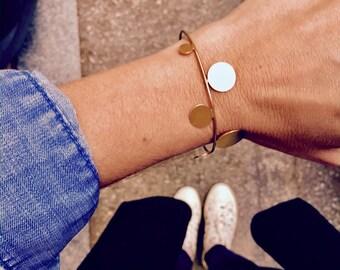 Gold bangle bracelet, Silver bangle, minimal statement, geometric gold bangle, statement bangle, , minimal silver bracelet, gift for her