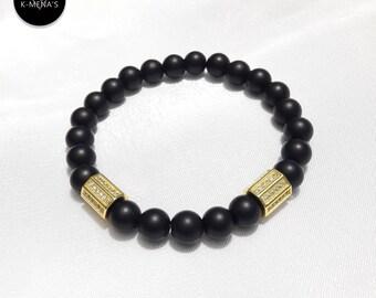 Black Matte Onyx Bracelet