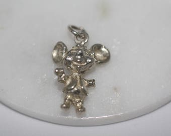 Sterling Silver Charm - Cartoon (Mickey) Mouse, Disney, Vintage Disney collectable, vintage charms, pendant, charm bracelet.