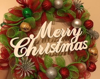 "SOLD OUT 10"" Merry Christmas Wreath"