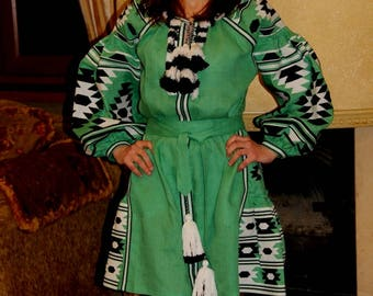Ukrainian dress Vyshyvanka Embroidered Dresses Bohemian Clothes Custom Boho Clothing Gift Vishivanka Ethnic Ukraine Mexican Embroidery