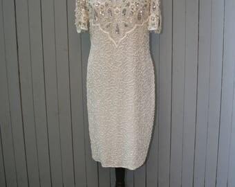 Vintage Beaded Shift Dress