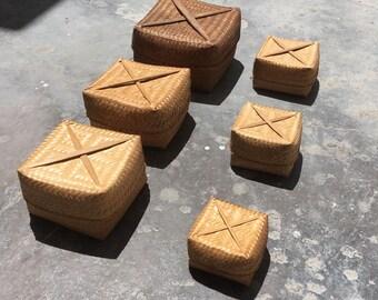Handcrafted Smoked Bamboo Box