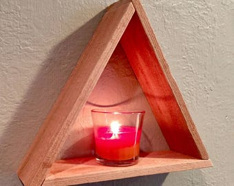 Handcrafted Floating Triangle Shelf