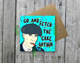 Greetings Card - Fun - Birthday Card - Peaky Blinders - Black Country - Cillian Murphy  - 1920s - Quirky- Thomas Shelby - Unique - TV Show