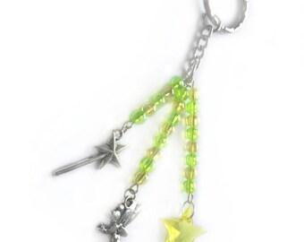 fairy keyring, fairy keychain, tinkerbell gift, fairy gifts, fairy accessories, fairytale gift, tinkerbell, green keychain, cute keyring,