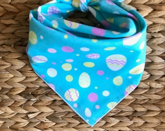 Tie On Dog Bandanas Easter fabric