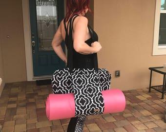 Yoga bag, Gym bag, Yoga mat bag, Yoga tote, Gym tote, pilates tote