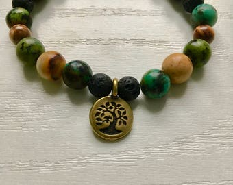 Tree of Life 2 Charm Diffuser Bracelet