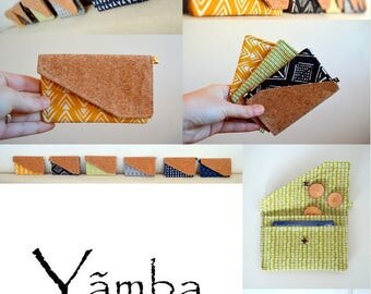 Wallet / card holder / Cork and cotton