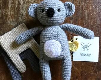 Koala/Amigurumi/Crochet/Handmade Plush Collectable/Gift