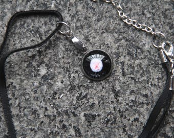 "PINK SPOTTED pendant 14mm (0.05"")"