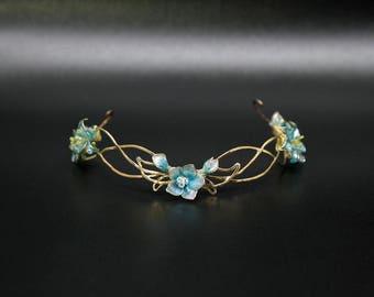 Flower Fairy (elven tiara for for doll)/BJD 1/3 /SD