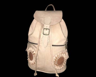 Handmade Backpack, Leather Backpack, School Backpack, college Backpack, Morrocan Artisana.