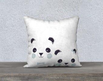 "Decorative ""PANDAS"" pillow Cushion cover for children, decoration, baby design decor, boy's room"