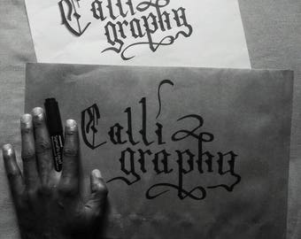 Hand Written Envelopes - Calligraphy Wedding Invitation
