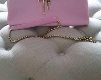 Pink and Blue Clutch