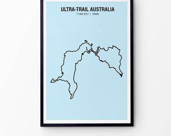 Uta map etsy uk ultra trail australia map print minimalist personalised map print marathon gift gumiabroncs Images