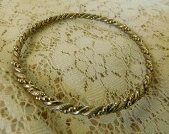 Vintage Bangle, Twisted Bangle, Bangle Bracelets, Silver Bangle