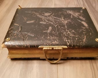 Victorian antique vintage photograph album from the 1800s
