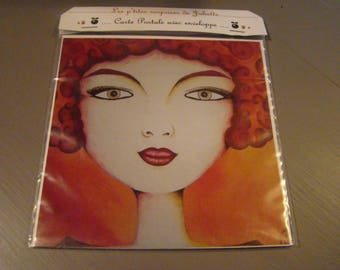 "Postcard with envelope painting ""My precious"""