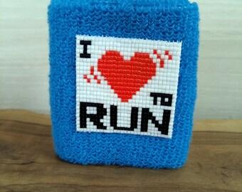 I LOVE TO RUN - Wrist sponge