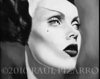 Maila Nurmi, Vampira as the bride of Frankenstein, signed print