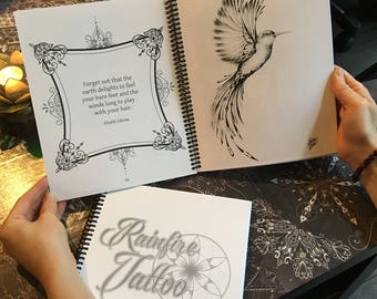 Rainfire Tattoo Colouring Books