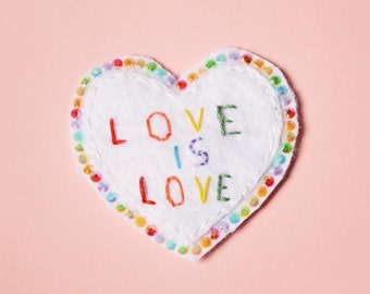 love is love - brooch -