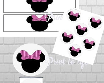 Minnie Mouse PRINTABLE Pringles Can labels with matching toppers 1.3 oz mini can-Download
