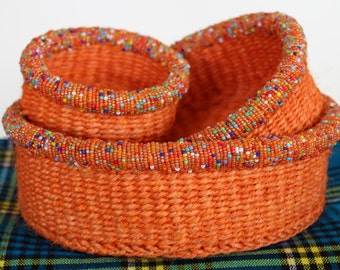Hand woven Kenyan basket