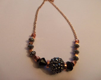 Rose gold style necklace