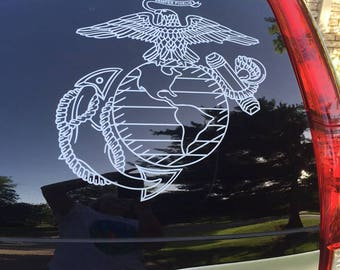 USMC Marines Military Semper Fidelis United brotherhood devil dog gift father brother  grandpa decal sticker Laptop Window Car Truck State