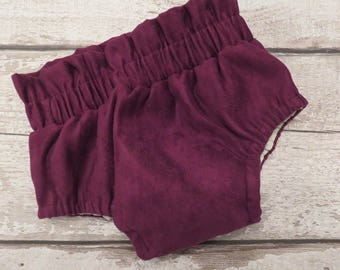 Purple faux suede bloomers