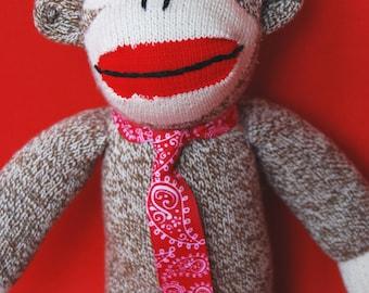 "Sock Monkey ""Arthur"" - Charming, ""Heritage-Style"""