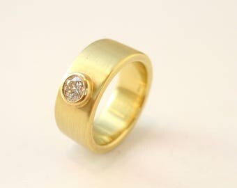 Ring of 750ER Gold with brilliant 0.49 ct